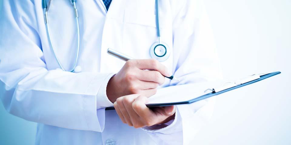 Podiatre et prescription par un docteur